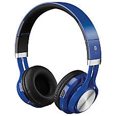 iLive Bluetooth Headphones On Ear Blue