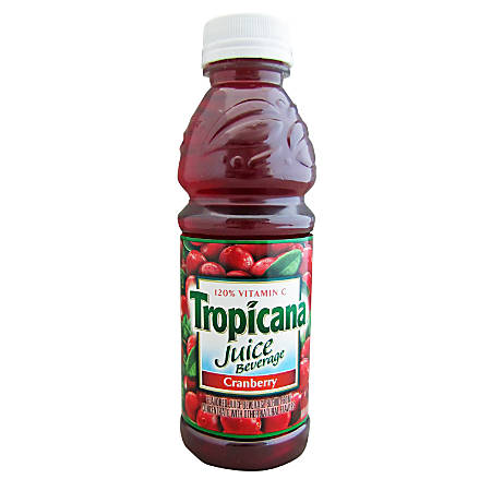 Tropicana® Juice With 120% Vitamin C, Cranberry, 10 Oz, Pack Of 24