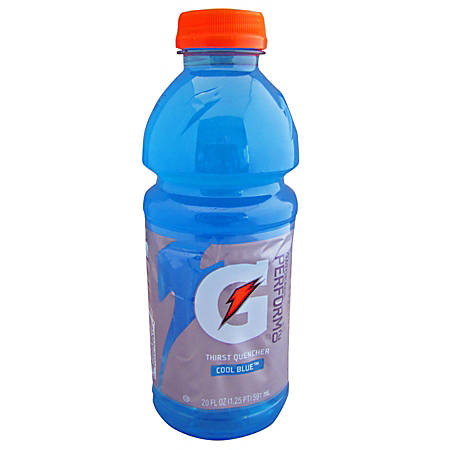 Gatorade Cool Blue, 20 Oz, Pack Of 24