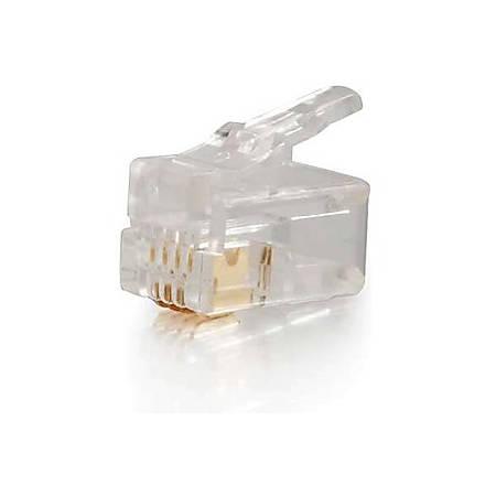 C2G RJ22 4x4 Modular Plug for Flat Stranded Cable