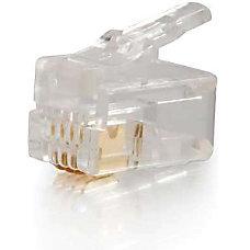 C2G RJ22 4x4 Modular Plug for