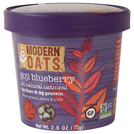 Modern Oats™ Oatmeal Cups, Goji Blueberry, 2.6 Oz, Pack Of 12