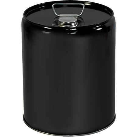 Office Depot® Brand Metal Pail Shipper, Closed Head, 5 Gallon, Black