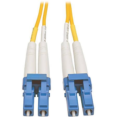 Tripp Lite 15M Duplex Singlemode 8.3/125 Fiber Optic Patch Cable LC/LC 50' 50ft 15 Meter - 49.20 ft Fiber Optic Network Cable - First End: 2 x LC Male Network - Second End: 2 x LC Male Network - Patch Cable - Yellow