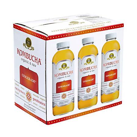 GT's Organic Raw Kombucha Gingerade, 16 Oz, Pack Of 6
