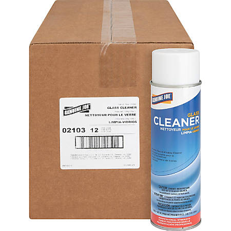 Genuine Joe Glass Cleaner Aerosol - Ready-To-Use Aerosol - 19 oz (1.19 lb) - 12 / Carton