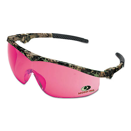 Mossy Oak Safety Glasses, Vermilion Lens, Anti-Scratch, Camouflage Frame