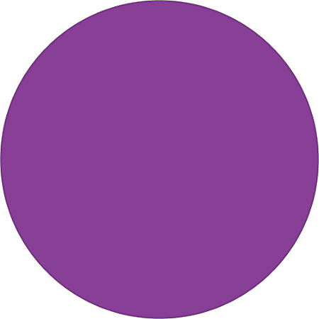 "Tape Logic® Inventory Circle Labels, DL614M, 3"", Purple, Pack Of 500"