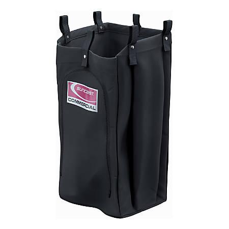"Suncast Commercial Standard Housekeeping Bag, 29-15/16""H x 15-1/4""W x 12-1/16""D, Black"