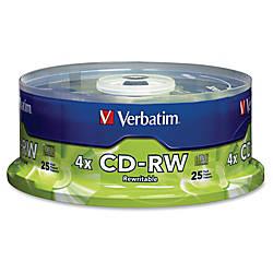 Verbatim CD RW Rewritable Media Disc