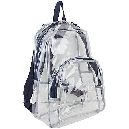 Eastsport Clear PVC Backpack, Navy