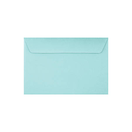 "LUX Booklet Envelopes With Peel & Press Closure, #6 1/2, 6"" x 9"", Seafoam, Pack Of 250"