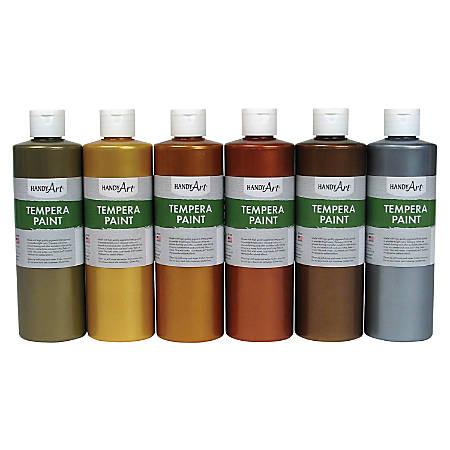 Handy Art Metallic Tempera Paint - 6 / Set - Metallic