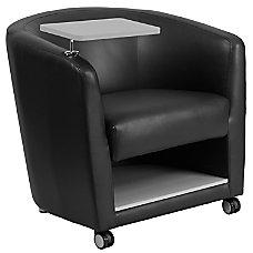 Flash Furniture LeatherSoft Tablet Arm Barrel