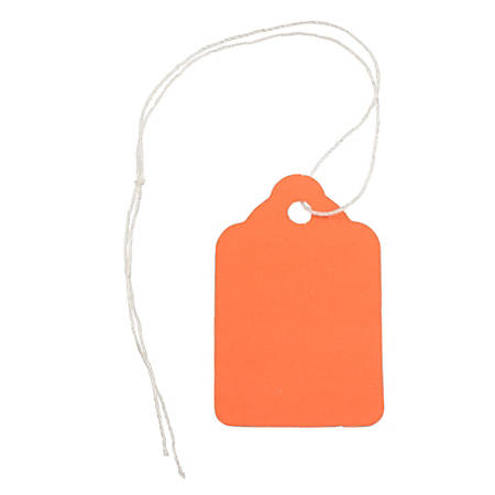 "JAM Paper® Gift Tags, 1 3/4"" x 1 1/8"", Orange, Pack Of 50"