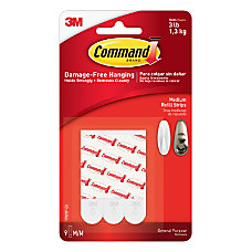 3M Command Mounting Strips 2 White