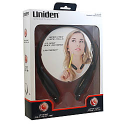 Uniden Wireless Bluetooth Earbud Headphones Blac