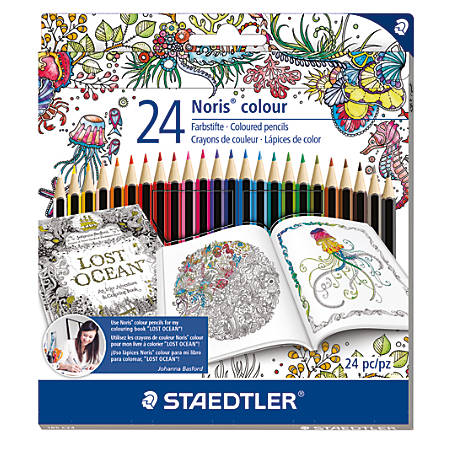 Staedtler® Johanna Basford Colored Pencils, Assorted Colors, Pack Of 24