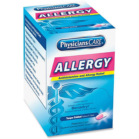 PhysiciansCare® Allergy Relief Tablets, Box of 50
