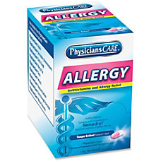 PhysiciansCare Allergy Relief Tablets Box of