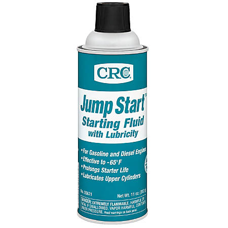 CRC Jump Start™ Starting Fluid With Lubricity, 16 Oz, Pack Of 12 Bottles