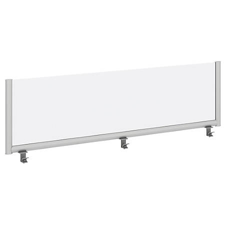 """Bush Business Furniture Desk Divider Privacy Panel, 66""""W, Frosted Acrylic, Premium Installation"""