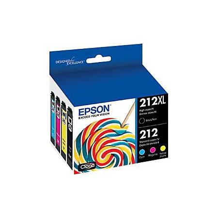 Epson 212XL - 4-pack - Hight Capacity (black) + Standard Capacity - black, yellow, cyan, magenta, pigmented black - original - ink cartridge - for Expression Home XP-4100; WorkForce WF-2830