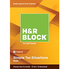 H R Block Basic 2018 Simple
