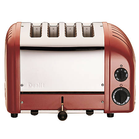 Dualit NewGen Extra-Wide Slot Toaster, 4-Slice, Red