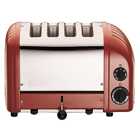 Dualit NewGen Extra-Wide Slot Toaster, 4-Slice, Red