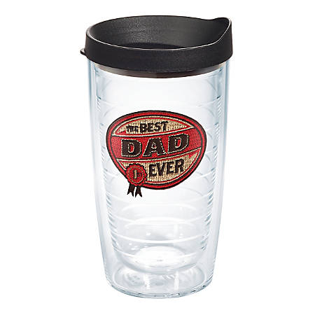 Tervis Hallmark® Best Dad Ever Tumbler With Lid, 16 Oz, Clear