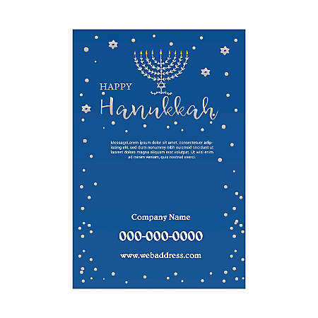 Plastic Sign Template, Blue Candles, Vertical