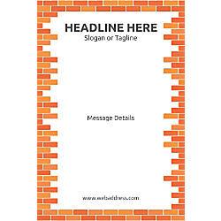 Custom Vertical Poster Bricks