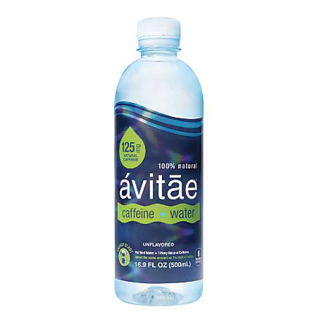 avitae Caffeinated Water, 125mg Caffeine, 16.9 Oz, Pack Of 24