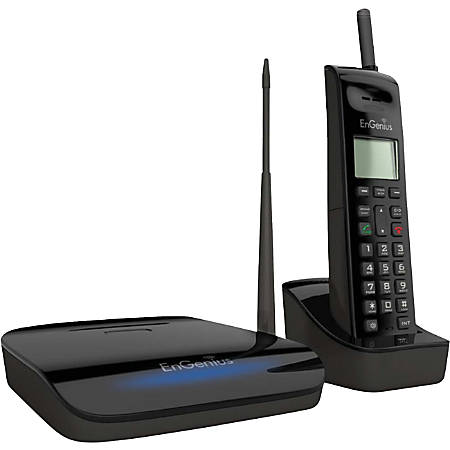 EnGenius® FreeStyl 2 DECT 6.0 Cordless Phone System, ENGFREESTYL2, Black