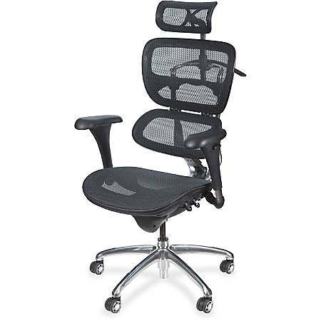 "MooreCo Butterfly Chair - 5-star Base - Chrome Black - 28"" Width x 24"" Depth x 51"" Height"
