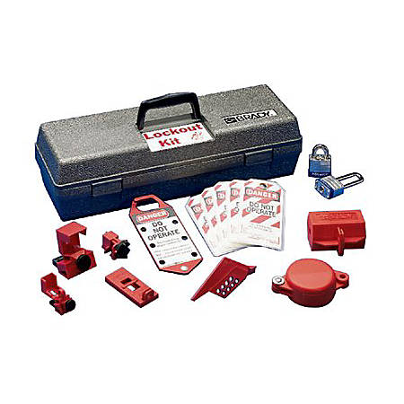 LOCKOUT TOOL BOX KIT W/COMPONENTS