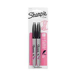 Sharpie Permanent Fine Point Markers BlackPink