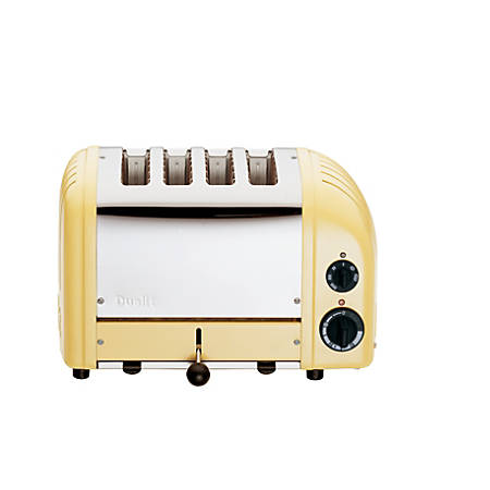 Dualit NewGen Extra-Wide Slot Toaster, 4-Slice, Canary Yellow