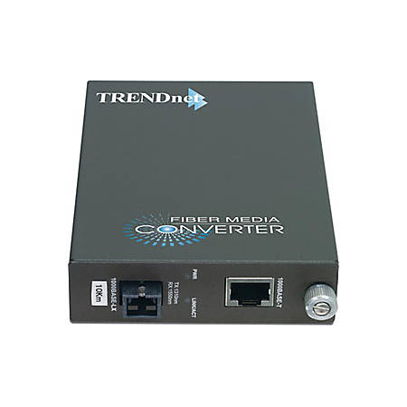 TRENDnet Intelligent 1000Base-TX to 1000Base-FX Dual Wavelength Single Mode SC Fiber Converter TX1310