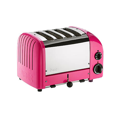 Dualit NewGen Extra-Wide Slot Toaster, 4-Slice, Chilly Pink