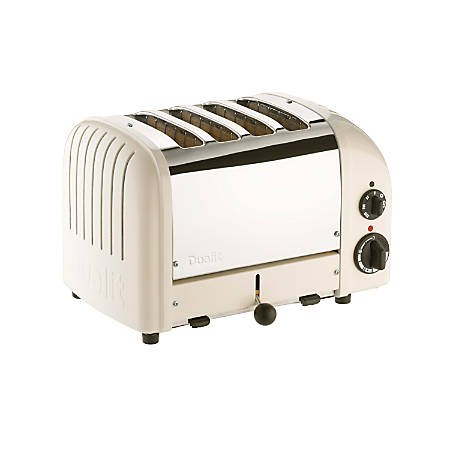 Dualit NewGen Extra-Wide Slot Toaster, 4-Slice, Canvas White