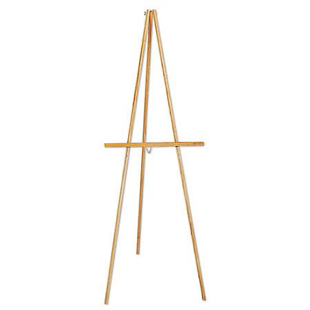 Quartet® Hardwood Display Easel, Natural Oak Finish