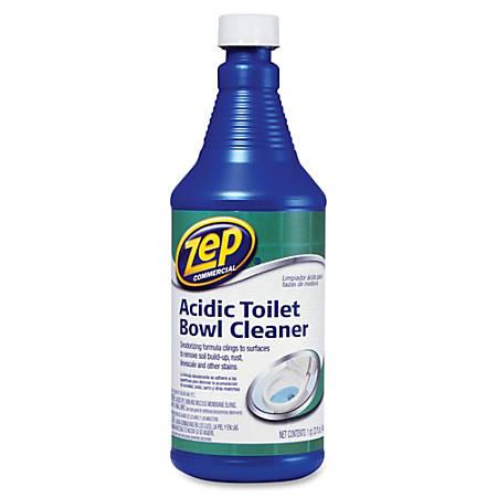 Zep Commercial Acidic Toilet Bowl Cleaner - 0.25 gal (32 fl oz) - Fresh Minty Pine Scent - 12 / Carton - Blue