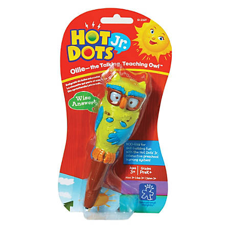 """Educational Insights® Hot Dots® Jr. Ollie The Talking, Teaching Owl™ Pen, 6"""", Multicolor"""