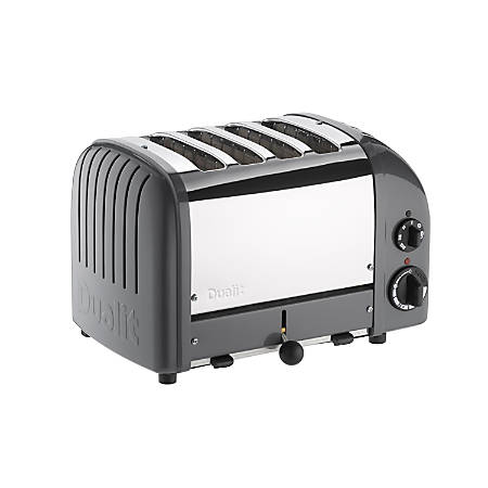 Dualit NewGen Extra-Wide Slot Toaster, 4-Slice, Cobble Gray