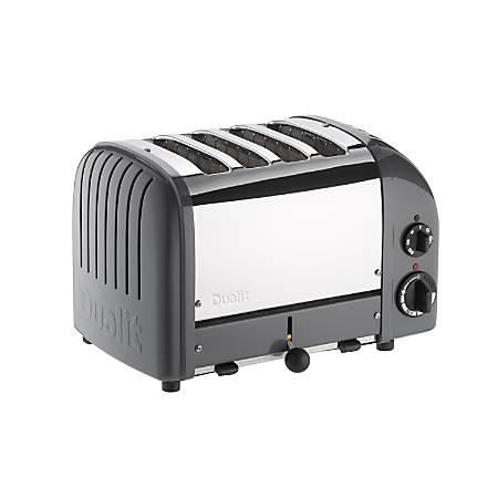 Dualit NewGen Extra-Wide Slot Toaster, 4-Slice, Cobble Gray