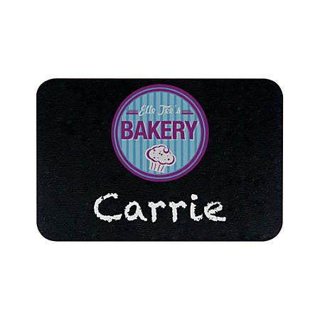 "Rectangle Chalkboard Name Badge, 2"" x 3"""