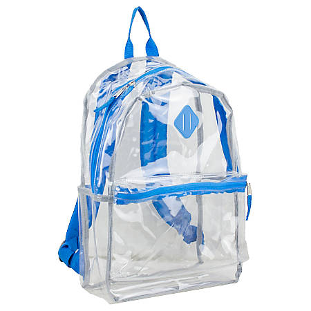 Eastsport Clear PVC Backpack, Royal Blue