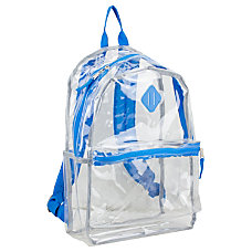 Eastsport Clear PVC Backpack Royal Blue